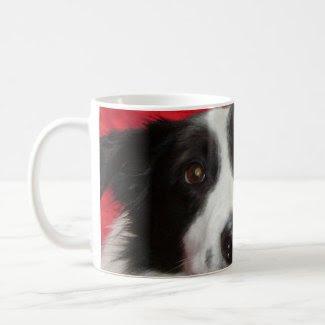 Tim the Border Collie Classic White Coffee Mug