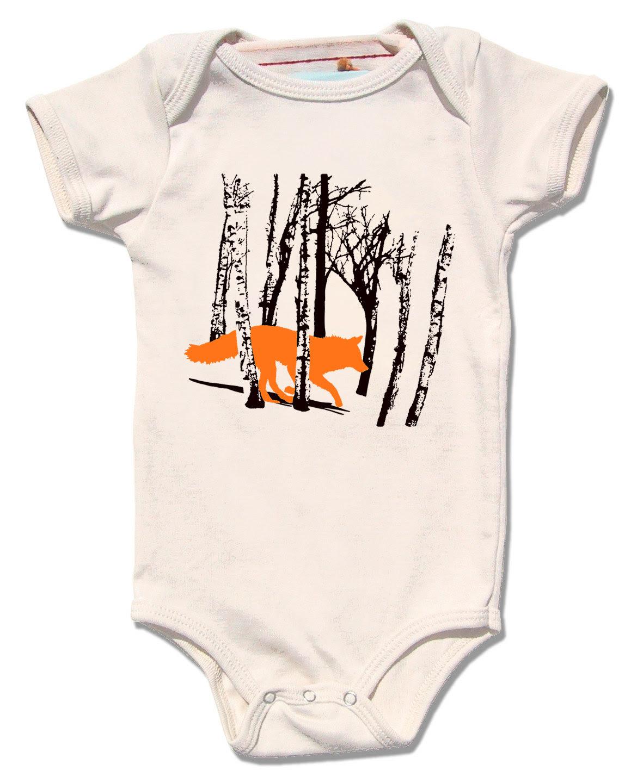 Fox Onesie Organic Cotton Baby Clothes Wolf Onesie Organic Baby
