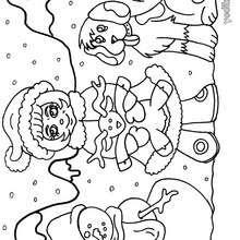 Dibujos Para Colorear El Muneco La Nina Y El Perro Es Hellokids Com