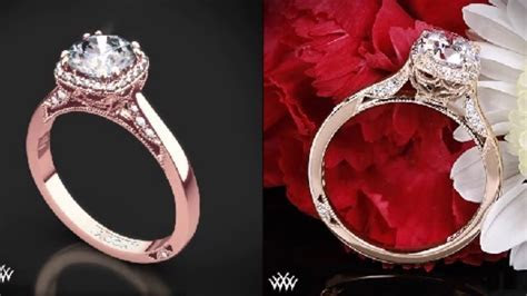 TOP 10 BEST ROSE GOLD ENGAGEMENT RING 2016   YouTube