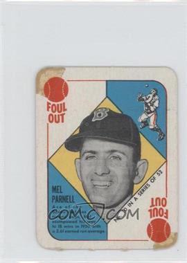 1951 Topps Red Backs #10 - Mel Parnell - Courtesy of COMC.com
