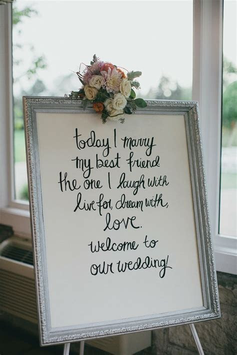 Quotes About Wedding : Wedding Sign Inspiration. DIY your