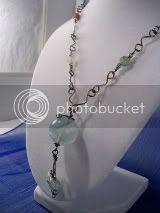 Fluorite Pendant with Handmade Niobium Chain