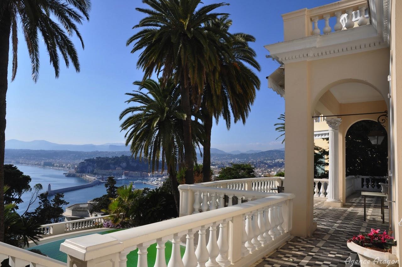 Vente d'une villa de luxe à Nice Mont Boron avec vue mer