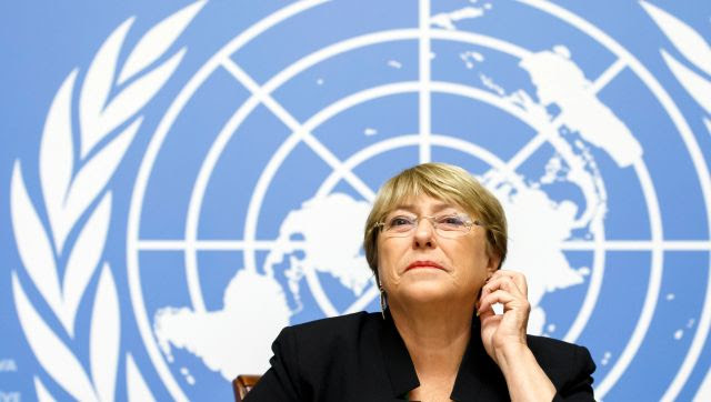 Verónica Michelle Bachelet Jeria has served as the United Nations High Commissioner for Human Rights since 2018. AFP