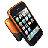 ifrogz iPhone 3G Luxe Case - Orange/Black iphone3g-st-ob