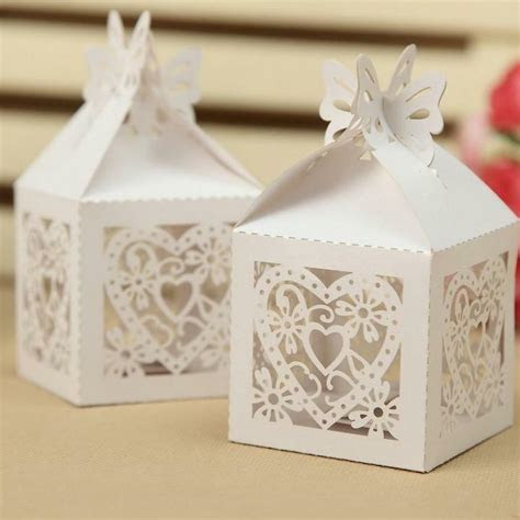 Wholesale Laser Cut 8 Style Favor Candy Gift Boxes With