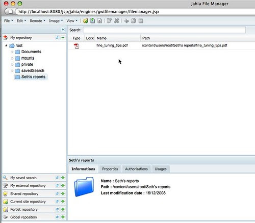 Jahia 6 File Manager