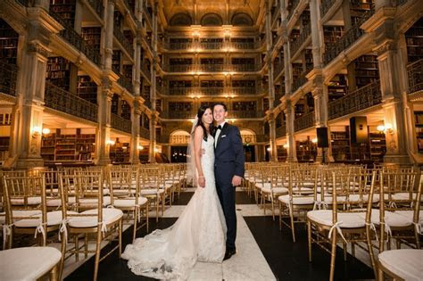 George Peabody Library Wedding in Baltimore, Maryland