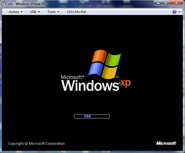 Windows Virtual PC Screenshot