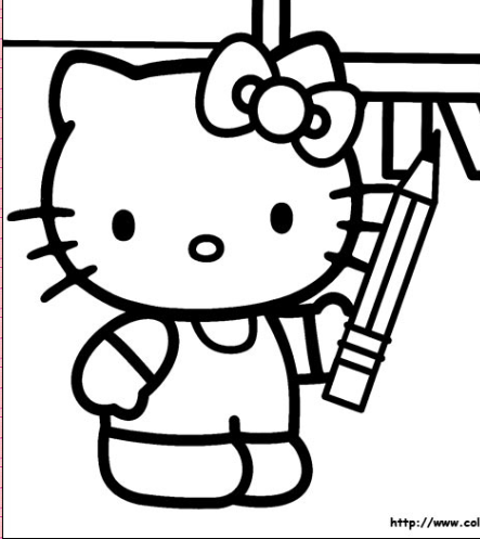 math coloring sheets  cute kitty coloring pages flower