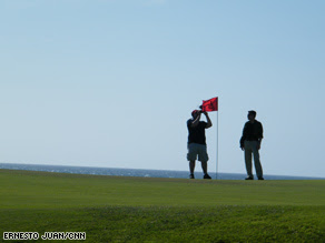 CNN recently visited one of the two golf courses in Cuba.