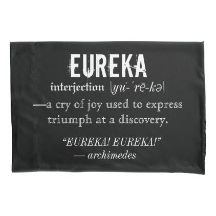 Eureka Definition Archimedes Greek Nerd Fraternity Pillowcase