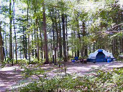 camping at Leverentz Lake