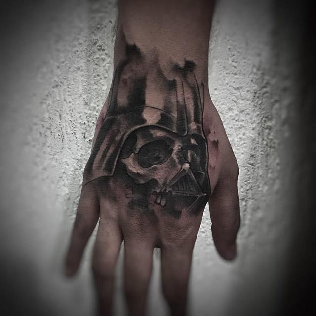 Darth Vader Skull Tattoo On Hand Best Tattoo Ideas Gallery