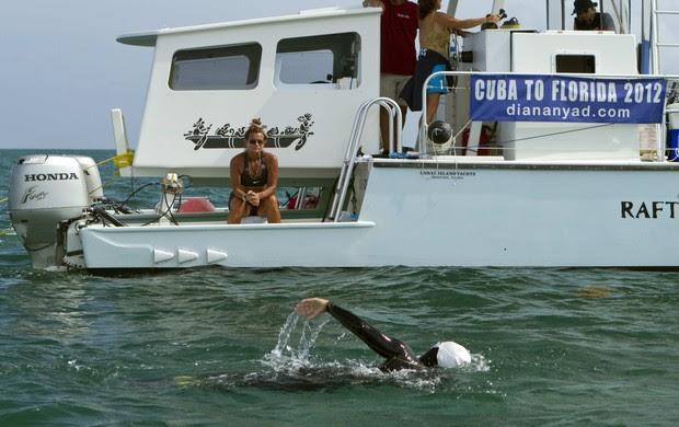 Diana Nyad travessia Cuba EUA (Foto: Reuters)