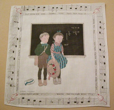 Antique B. Cory Teach-er Says Children Handkerchief - murdups