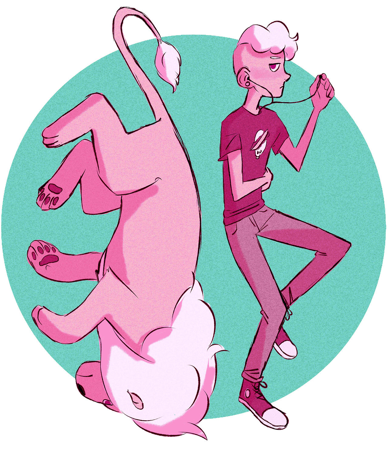 Literally speed drew this after the special because pink is my favourite colour
