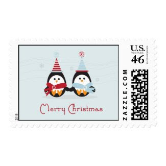 Christmas Penguin Postage stamp