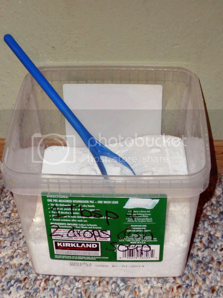 diy powdered dishwasher detergent for hard water