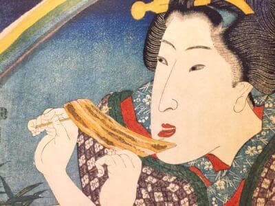 うなぎの蒲焼の和風浮世絵風イラストの描き方3ステップ 似顔絵