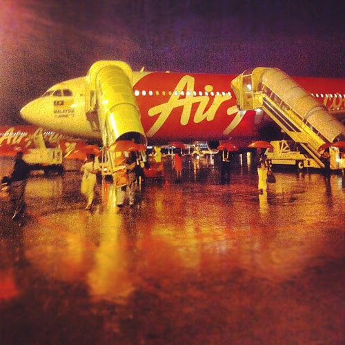 Plane landed in Malaysia around 5:30am. It was raining heavily. What a welcome.