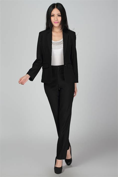 size  xl women wedding black pants suits work wear