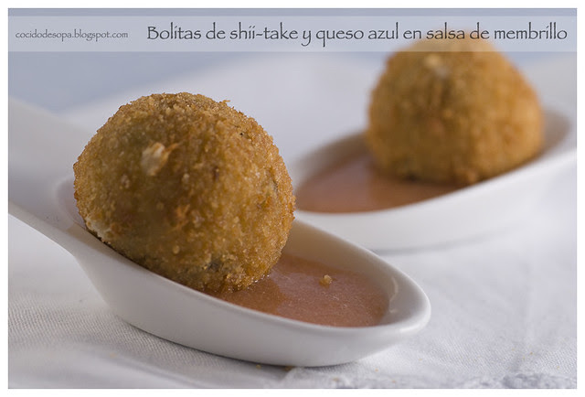 Bolitas shii-take salsa membrillo_1