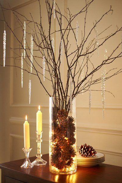 Natural Holiday Decor Idea: Ramas de abedul Hermoso | Apartment Therapy