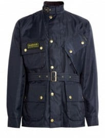 Barbour Navy Light Nylon Twill International Jacket