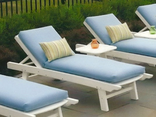 Seaside Casual Kingston Chaise Lounge - patio furniture and