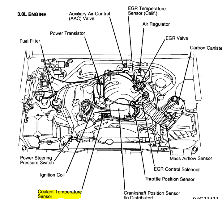 I am looking for My Air temperature sensor in my 1993 ...