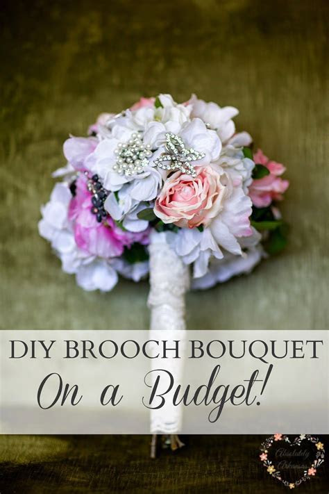 How to DIY a Brooch Bouquet for your wedding on a budget