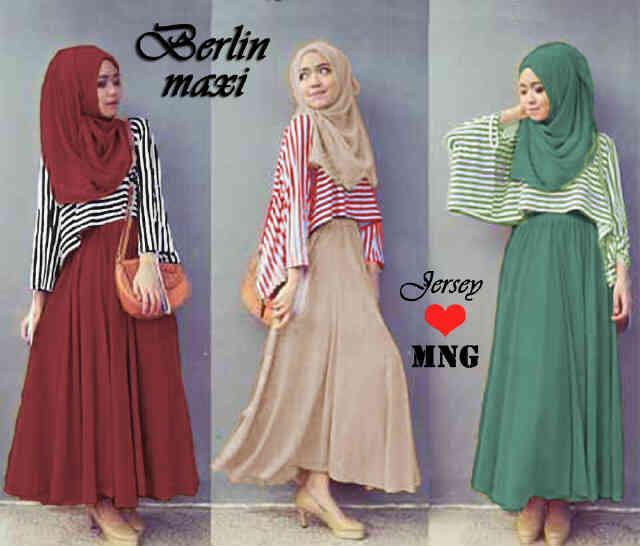 Baju Muslim Gamis Modern Remaja  Contoh Model Baju Muslim