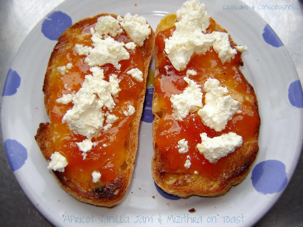 Apricot Jam with Mizithra