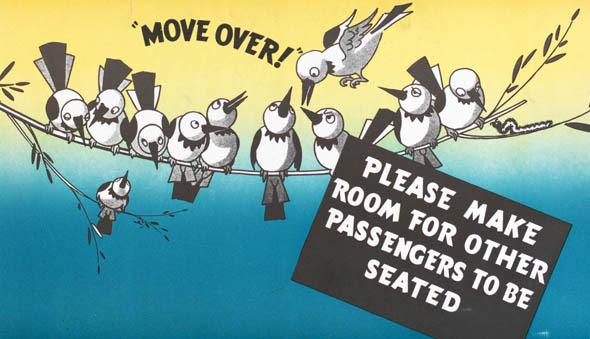 ttc subway cards advertisements birds