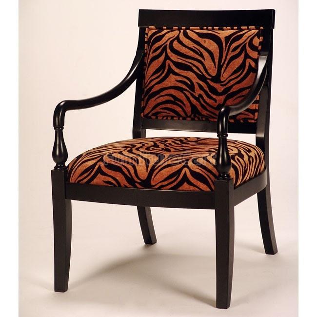 Animal Print Accent Chair  decor lust  Pinterest