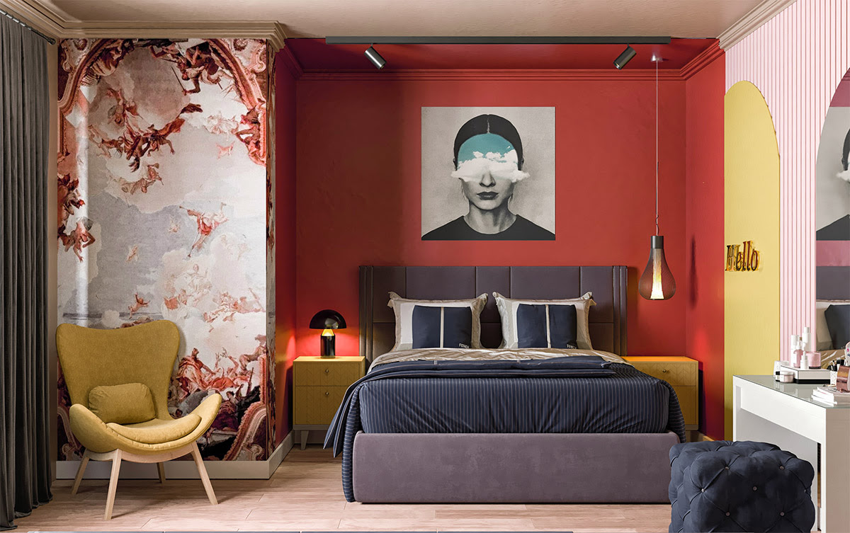51 Red Bedrooms With Tips And Accessories To Help You Design Yours