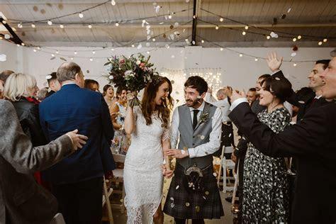 A For Love & Lemons Dress for a Modern Warehouse Wedding