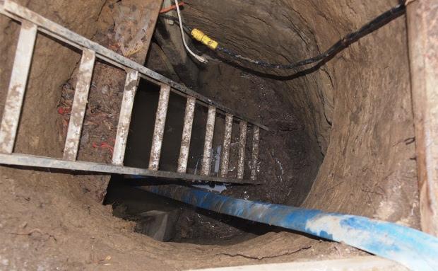 A entrada para o bunker