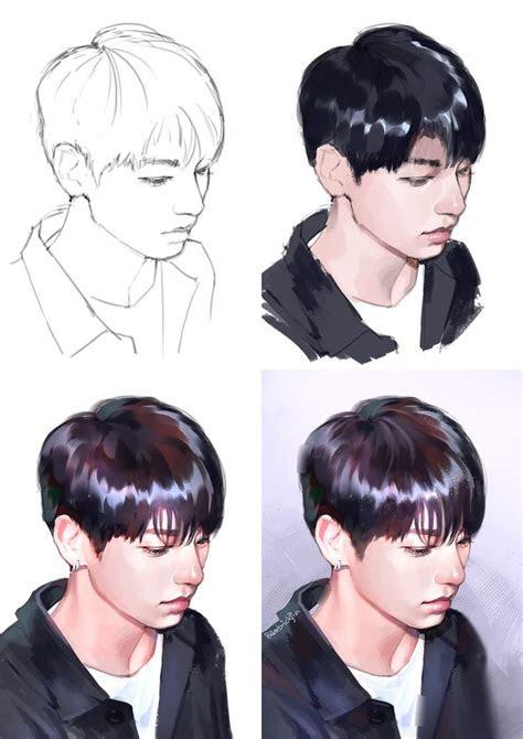 bts jungkook process fanart kpop fanart dibujos de