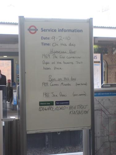 Kew Gardens Tube - Joe Pesci birthday