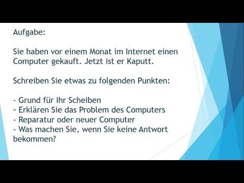 Reklamation Computer Prüfung B1