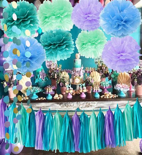 Under The Sea Party Supplies/Mermaid Decorations Teal