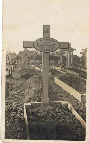 Grave of George Hardley in France