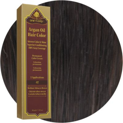 One 'n Only Argan Oil Hair Color 4t Medium Tobacco Brown ...
