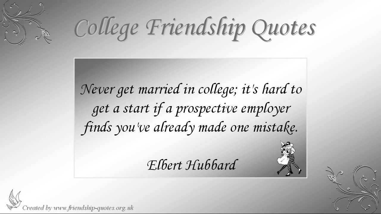 Quote About Best Friends In College