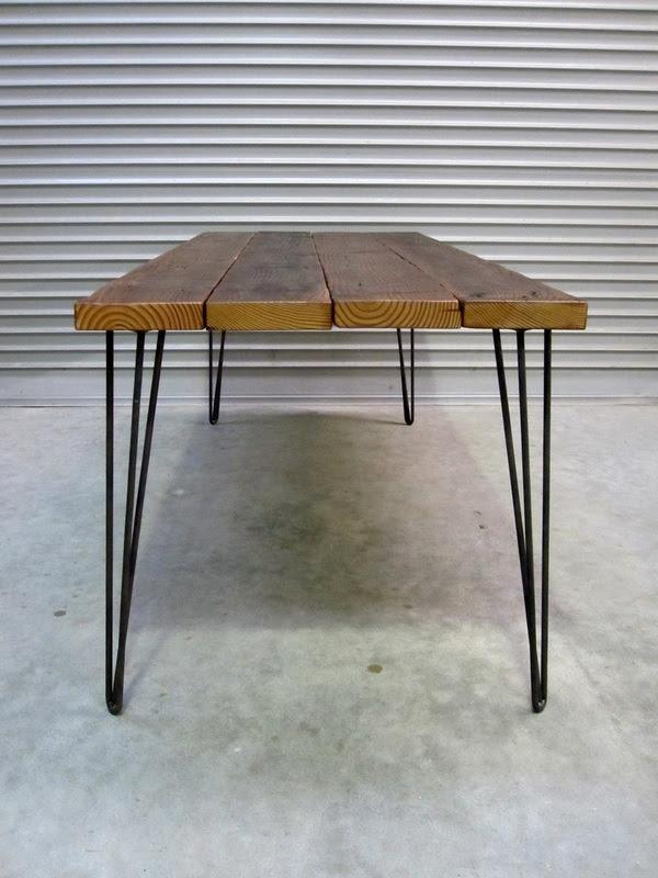 Hairpin Leg  Douglas fir  Adam Sinclair Furniture