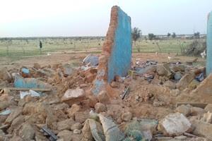 Urgent : Un bâtiment s'effondre sur un vieux de 95 ans à Ferouga/ Boghé [PhotoReportage]