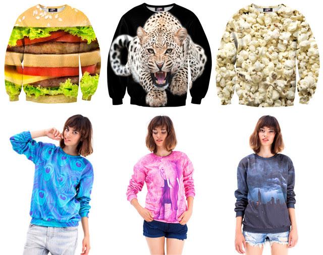 mr gugu miss go statement prints sweaters tee t shirts allover print fastfood hamburger popcorn panda palm trees elephants funny brand bijenkorf asos fashion blogger turn it inside out belgium taj mahal new york panter